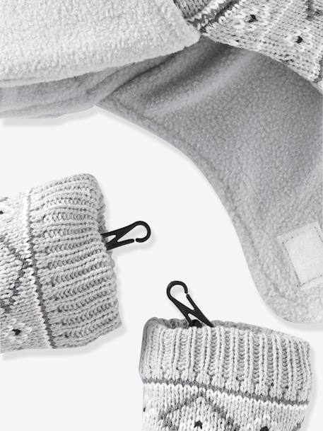Baby Boys Snood, Hat & Mittens Set Grey marl