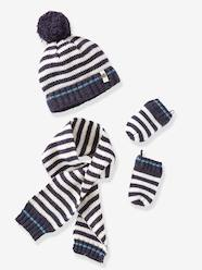 Baby-Hats & Accessories-Newborn Baby Hat, Scarf & Mittens Set