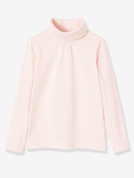 Pack of 3 Roll-Neck Tops for Girls PINK DARK 2 COLOR/MULTICOL OR+PINK LIGHT 2 COLOR/MULTICOL R+YELLOW DARK 2 COLOR/MULTICOL