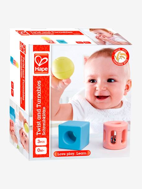 Geometric Rattle, by HAPE BLUE MEDIUM TWO COLOR/MULTICOL