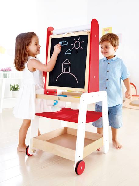 Portable Easel, by Hape RED MEDIUM 2 COLOR/MULTICOL