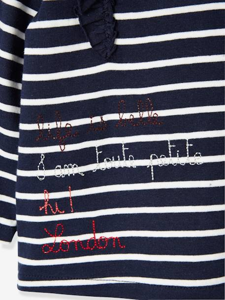 Striped Top for Baby Girls, I am toute petite BLUE DARK STRIPED+PINK DARK STRIPED