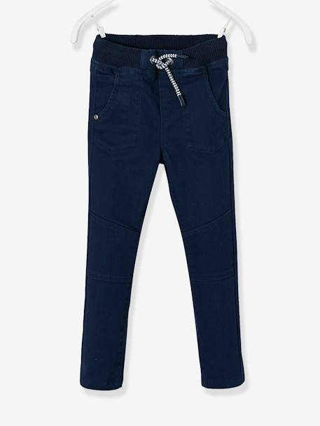 WIDE Hip Slim Trousers for Boys BLUE DARK SOLID+RED DARK SOLID