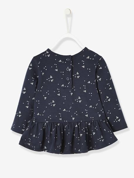 Printed Top with Frilled Hem for Baby Girls BLUE DARK ALL OVER PRINTED+GREY LIGHT MIXED COLOR+PINK DARK ALL OVER PRINTED