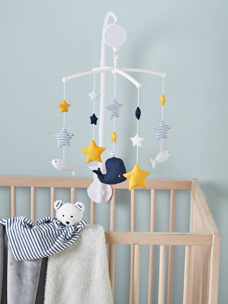 Musical Mobile Set, Fun Sailor BLUE DARK SOLID WITH DESIGN