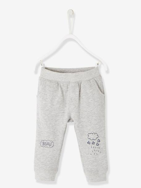 Baby Boys' Fleece Trousers BLUE DARK SOLID WITH DESIGN+GREEN DARK SOLID WITH DESIGN+GREY MEDIUM MIXED COLOR+RED DARK SOLID WITH DESIGN