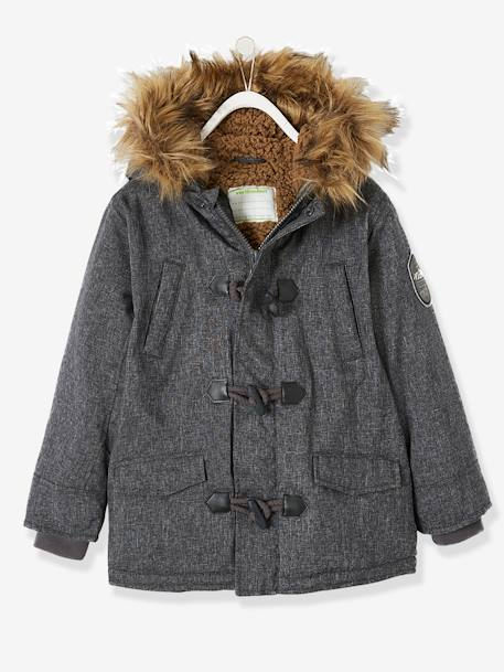 Hooded Parka for Boys BLUE MEDIUM MIXED COLOR