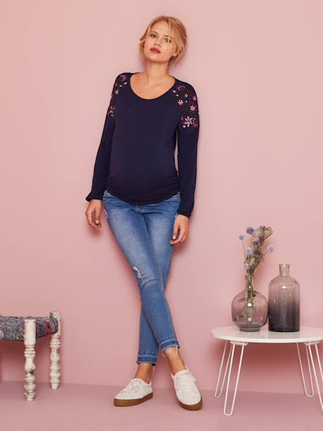 Maternity Washed Skinny Jeans, Ankle Length BLACK DARK SOLID+BLUE DARK WASCHED+GREY MEDIUM WASCHED