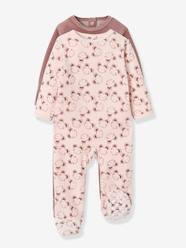 Baby-Pack of 2 Velour Pyjamas, Press Studs on the Back