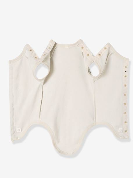 Baby Short-Sleeved Organic Cotton Bodysuit, Especially for Premature Babies GREY LIGHT ALL OVER PRINTED+PINK LIGHT ALL OVER PRINTED+WHITE LIGHT ALL OVER PRINTED