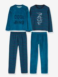 Boys-Nightwear-Pack of 2 Sets of Dual Fabric Pyjamas