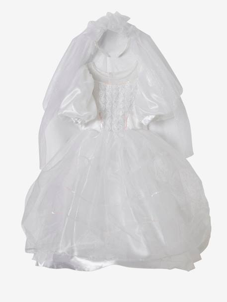 Bridal Costume WHITE BRIGHT SOLID WITH DESIGN