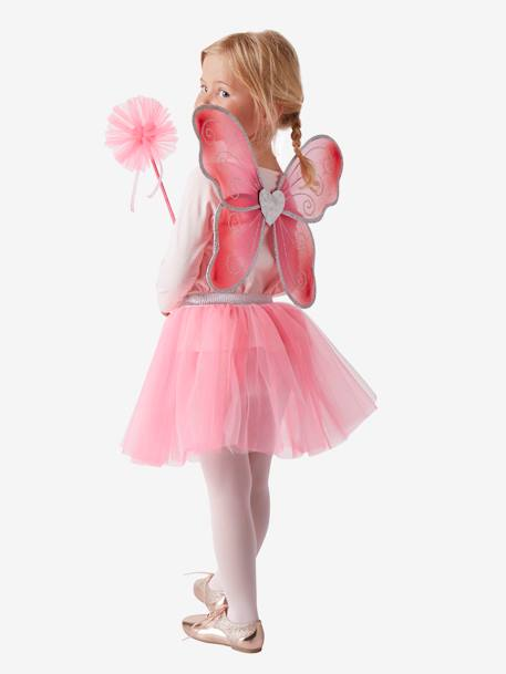 Fairy Costume + Magic Wand PINK BRIGHT 2 COLOR/MULTICOL