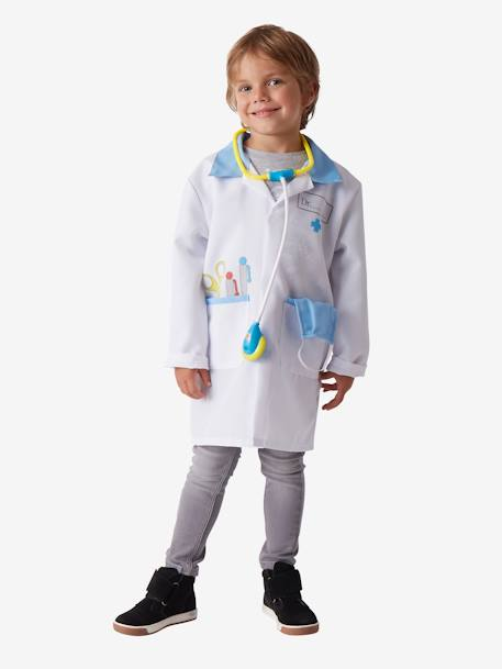 Doctor Costume WHITE BRIGHT SOLID WITH DESIGN
