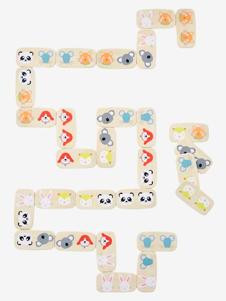 Wooden Dominoes BEIGE LIGHT TWO COLOR/MULTICOL