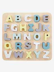 Toys-Cubes & Building Games-Wooden Alphabet Puzzle Board