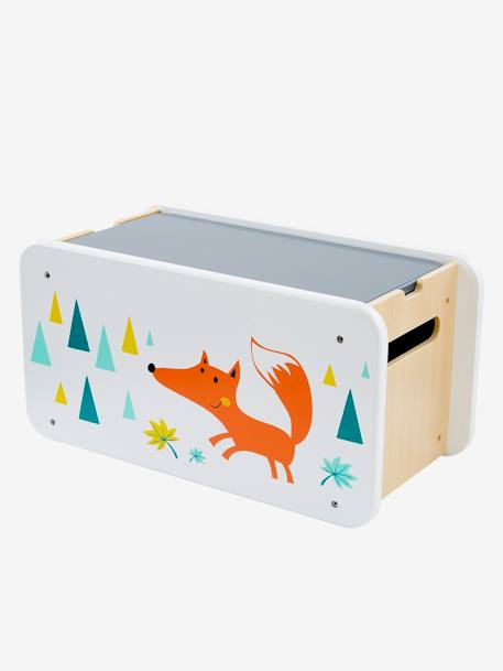 Multi-activity Fox Toy Box ORANGE MEDIUM SOLID WITH DESIG