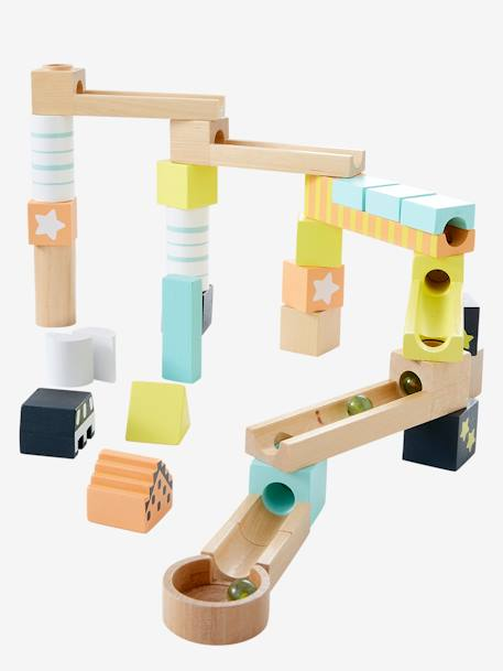 My First Marble Run, Wooden (32 Pieces) BROWN LIGHT 2 COLOR/MULTICOL