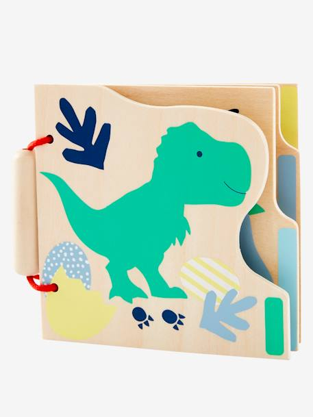 The World of Dinosaurs Wooden Activity Book ORANGE BRIGHT SOLID WITH DESIG
