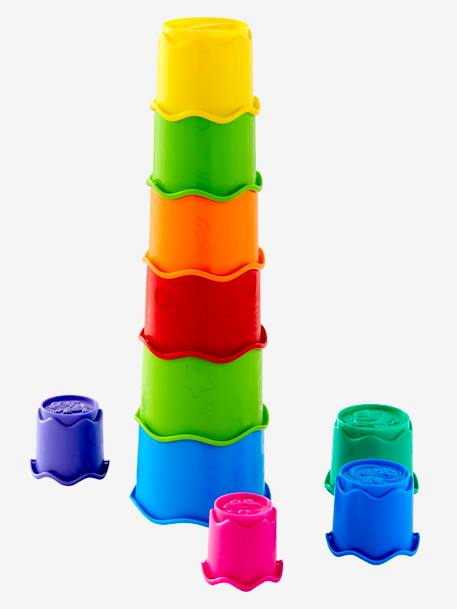 Stackable Plastic Cups RED BRIGHT 2 COLOR/MULTICOL