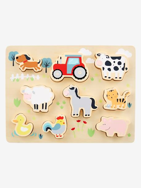 Farm Sort & Fit Puzzle WHITE DARK SOLID WITH DESIGN