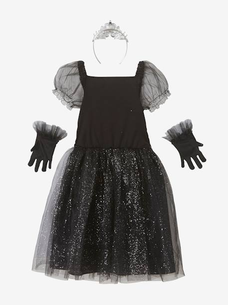 Film Star Costume BLACK BRIGHT SOLID WITH DESIGN