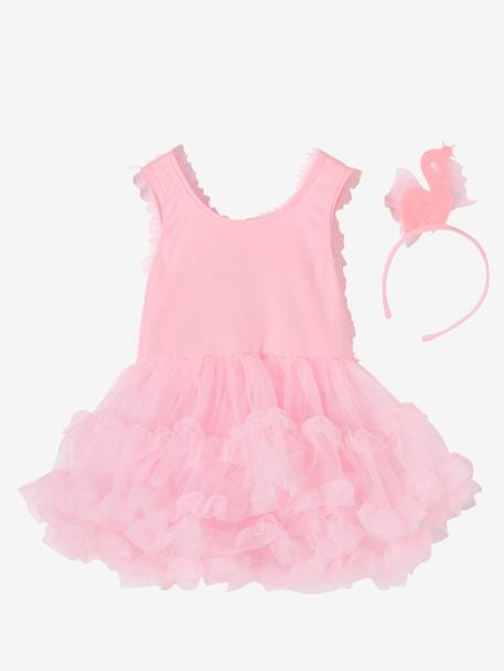 Ballerina with Swan Costume PINK MEDIUM SOLID