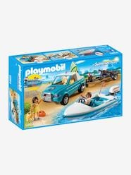 Toys-6864 Surfer Pickup with Speedboat with Underwater Motor by Playmobil