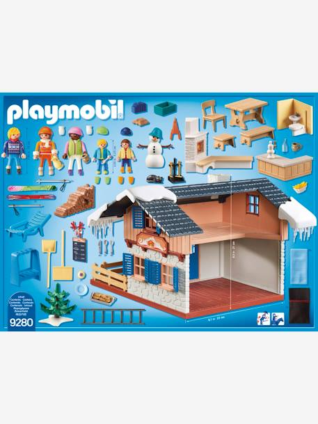 9280 Ski Lodge by Playmobil BROWN MEDIUM SOLID WITH DESIGN