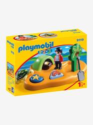 Toys-Playsets-9119 Pirate Island by Playmobil 1.2.3