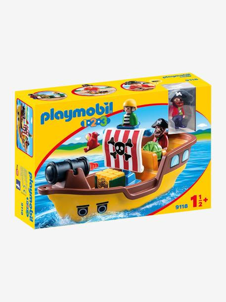 9118 Pirate Ship by Playmobil 1.2.3 BROWN MEDIUM SOLID WITH DESIGN