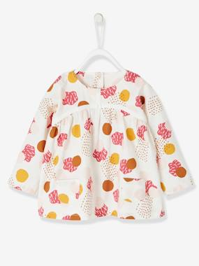 Baby Girls' Printed Blouse white bright all over printed