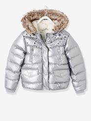 Girls-Down Jacket with Star Print for Girls