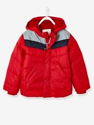 Boys-Coats & Jackets-Three-Tone Down Jacket with Reflective Details, for Boys