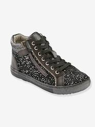 Shoes-Girls Footwear-Girls' Leather High-Top Trainers