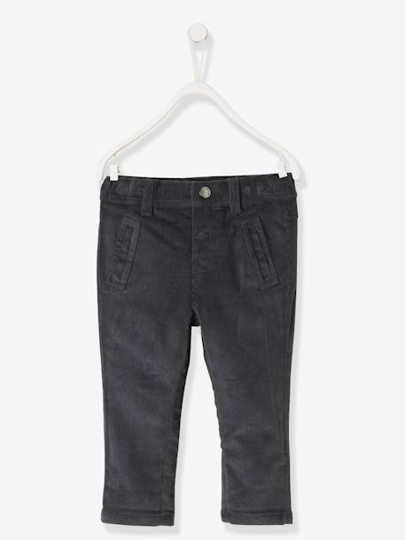 83d35c4cc10f Lined Corduroy Trousers for Baby Boys - grey dark solid