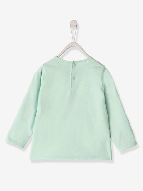 Top with Motif & Pocket, for Baby Boys GREEN LIGHT SOLID WITH DESIGN+ORANGE MEDIUM SOLID WITH DESIG