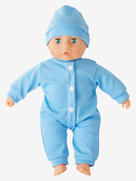 Baby Boy Doll BLUE LIGHT SOLID WITH DESIGN