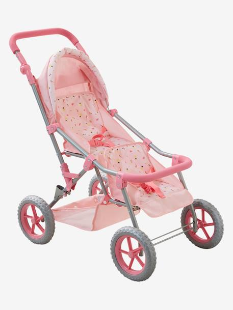 Twin Pushchair for Dolls PINK LIGHT 2 COLOR/MULTICOL R