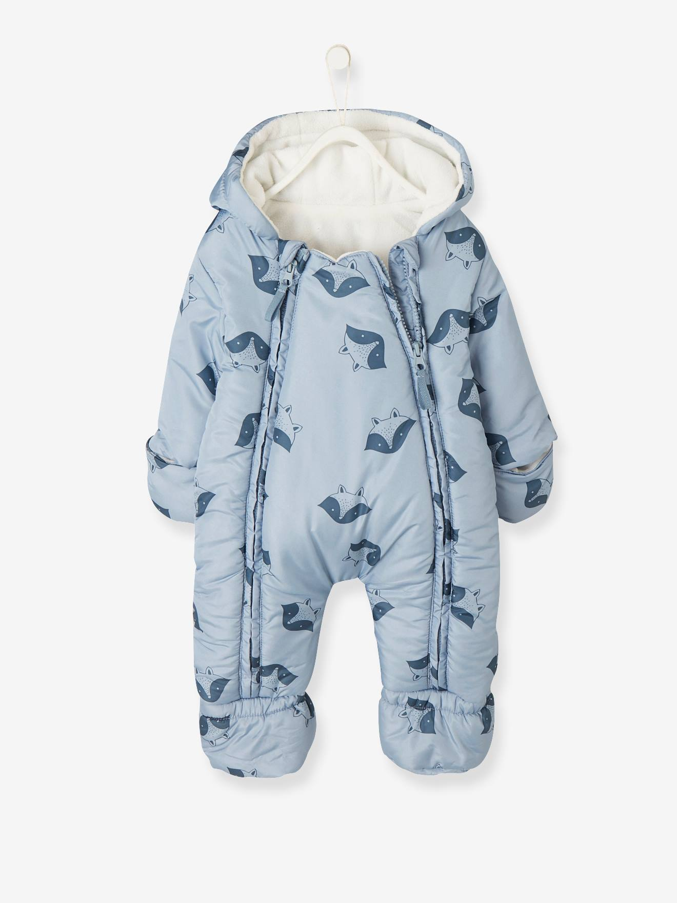 9f259c758 Convertible Baby Snowsuit - white light solid with design