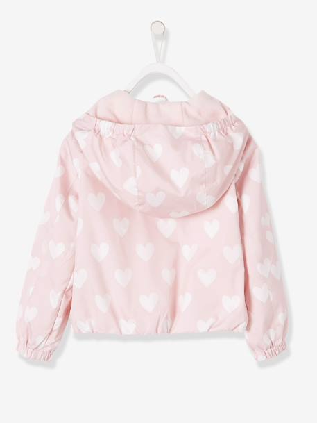 Windcheater with Fleece Lining for Girls PINK LIGHT ALL OVER PRINTED