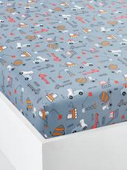 Furniture & Bedding-Fitted Sheet, DINO TRUCK Theme