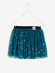 Girls-Skirts-Iridescent Tulle Skirt for Girls