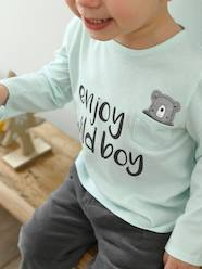 Baby-T-shirts & Roll Neck T-Shirts-T-Shirts-Top with Motif & Pocket, for Baby Boys