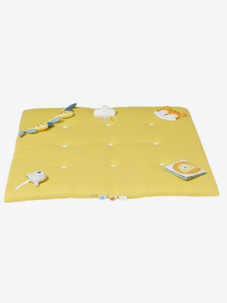 Soft Activity Mat, No Arch, Tropik YELLOW MEDIUM SOLID WTH DESIGN