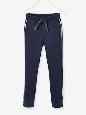 Jogger Type Trousers For Girls Blue Dark Solid