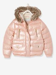 Girls-Coats & Jackets-Down Jacket with Star Print for Girls