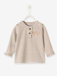 Baby-Striped Top with Frills, for Baby Girls
