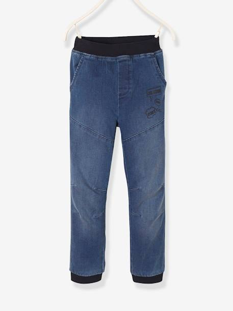 Denim Joggers for Boys BLUE DARK WASCHED