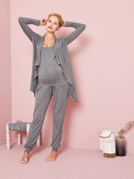 Maternity & Nursing Loungewear 3-Piece Kit Black+GREY MEDIUM MIXED COLOR
